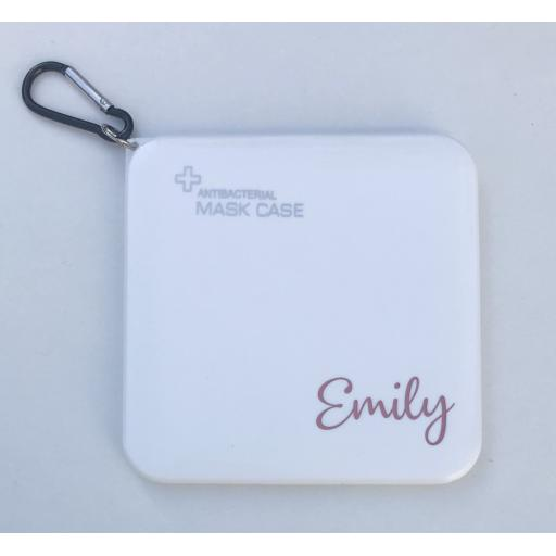 Personalised Named Face Mask Case