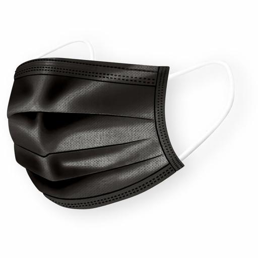 Black Disposable Masks (Box of 50)