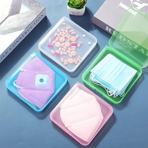 Antibacterial Face Mask Cases - special edition transparent colour